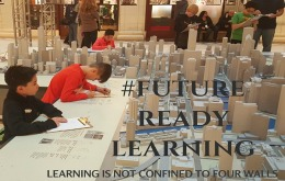Students  in  a Future Ready Learning  sceen- Learning is not confined to four walls.